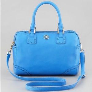 Burch Baby Blue Robinson Satchel Saffiano Leather
